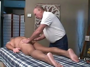 massage two older man
