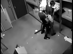 2 fucking guys caught by hidden cam
